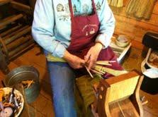 Broom maker at Foxfire