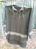 Here's a 100% wool army blanket I hand stitched to make a hunting shirt.