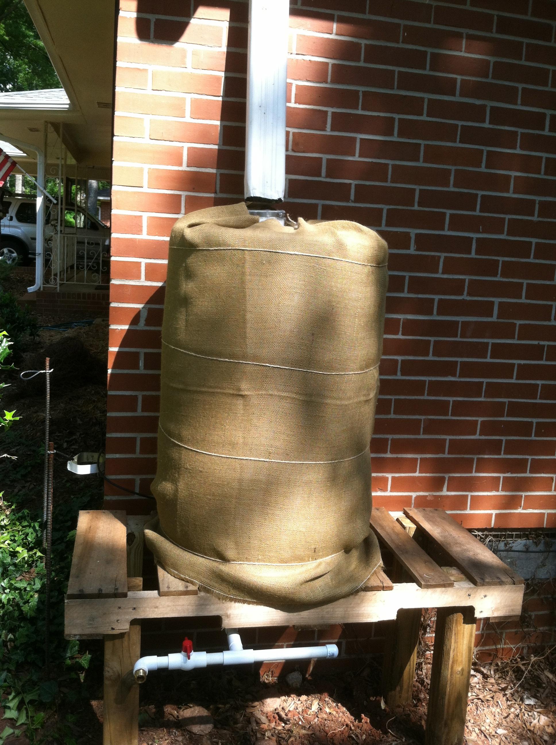 Camouflaging Diy Rain Barrels For Frontyard Gardens
