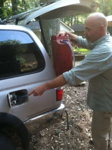 Running on Empty: Siphoning Gas without Sucking