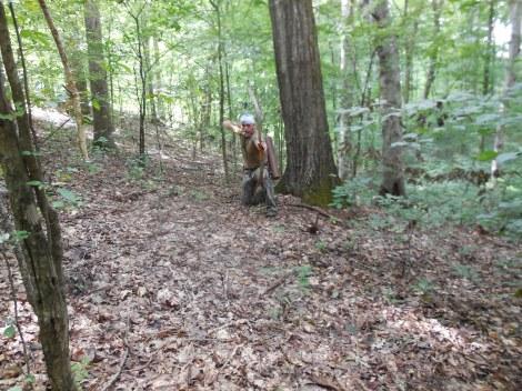 Honing Survival Skills by Stump Shooting