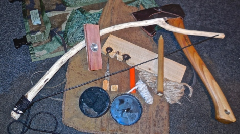 Friction fire kit