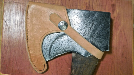 Self-Reliant Summer: DiY Custom Leather Mask for a Heirloom Ax