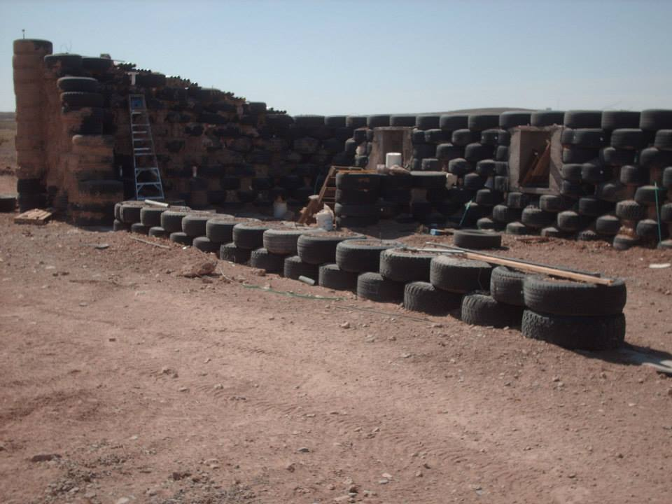 how to build a house out of tires