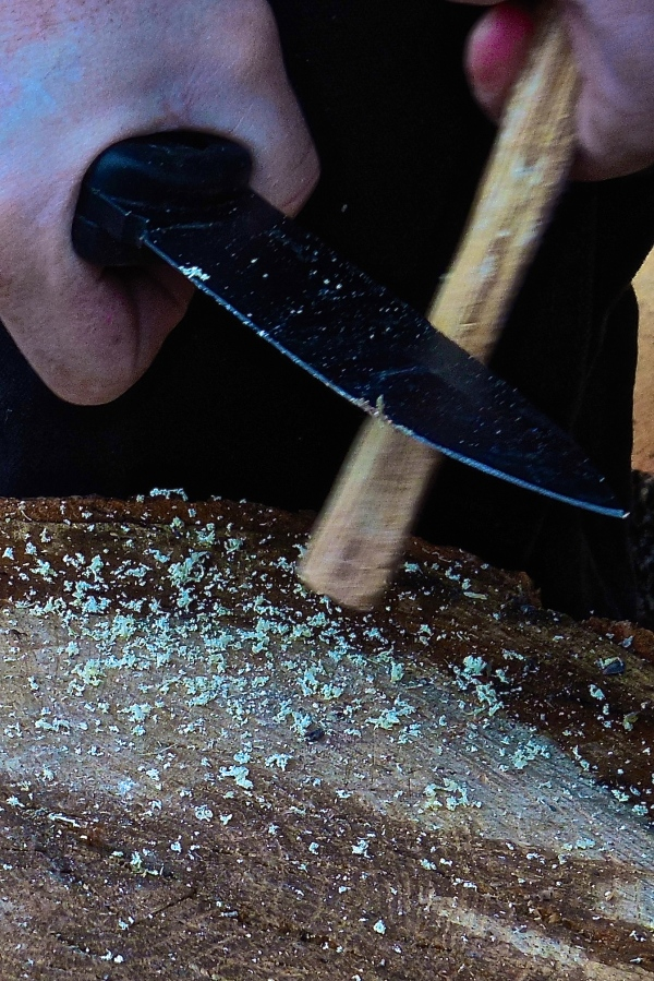 Shavings from fatwood will ignite with a ferrro rod.