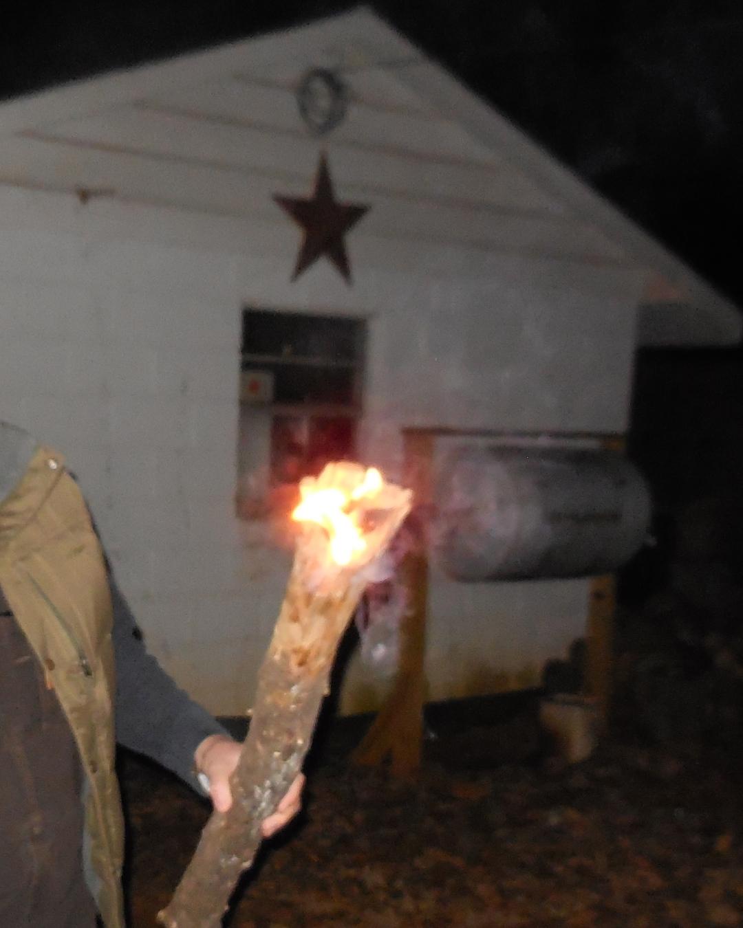 Fatwood torch   www.TheSurvivalSherpa.com