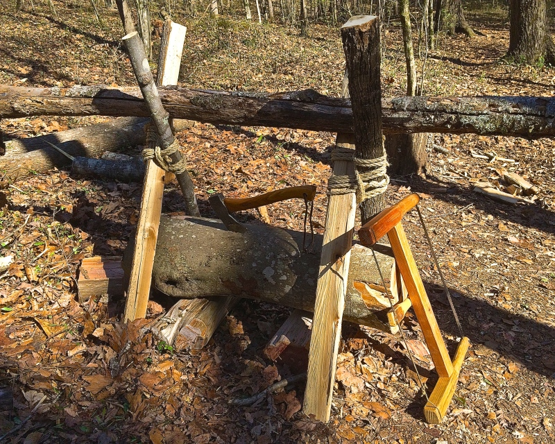 How to Build a Sturdy Sawbuck with Logs and Rope - www.TheSurvivalSherpa.com