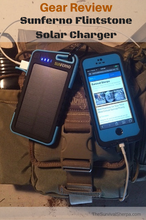 Gear Review - Sunferno Flintstone Solar Charger | TheSurvivalSherpa.com