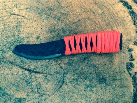 I was honored to have won this file knife which Stephan made in a fire challenge during the campout!