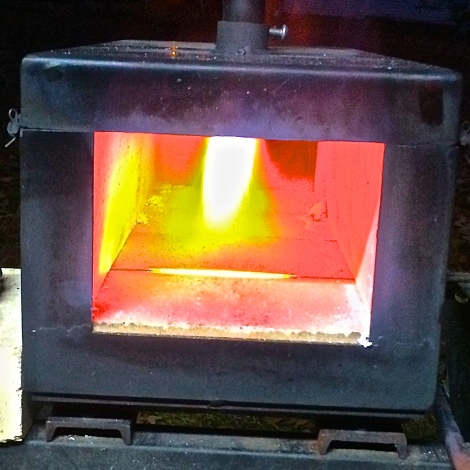 Propane forge at Red Barn Forge