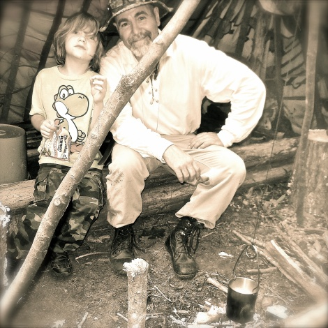 My grandson and I hanging out at basecamp