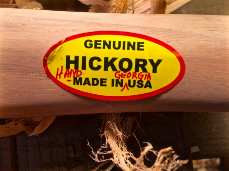 Customized sticker for a custom ax handle