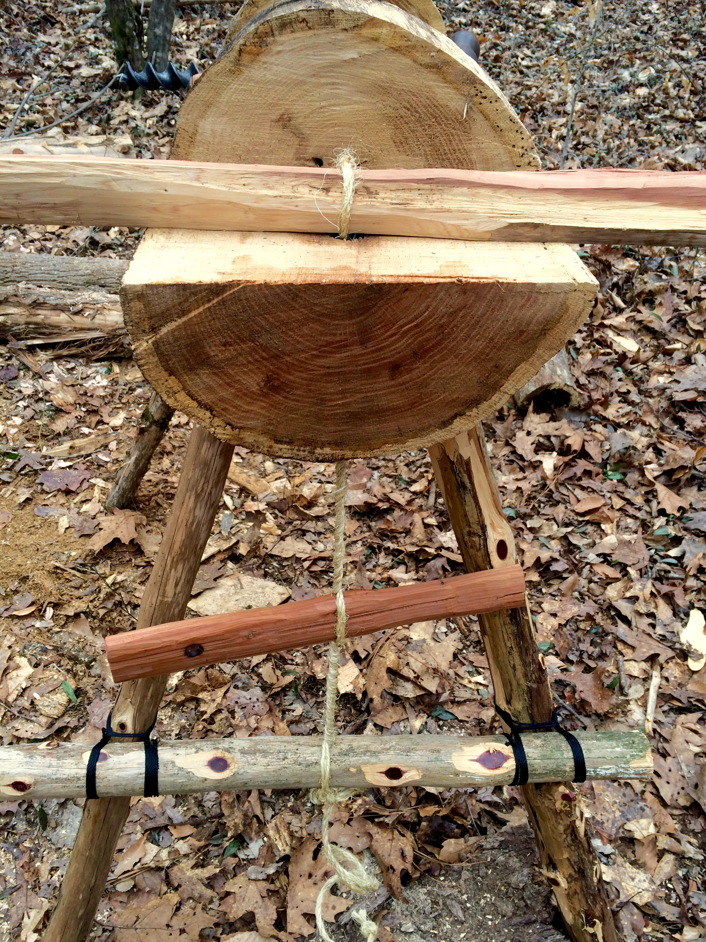 ... in How to Build a Carving Bench from a Log (Rope Vise Plans Included