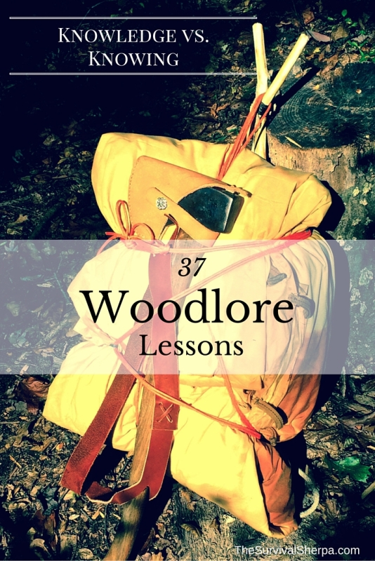 Knowledge vs. Knowing- 37 Woodlore Lessons - TheSurvivalSherpa.com