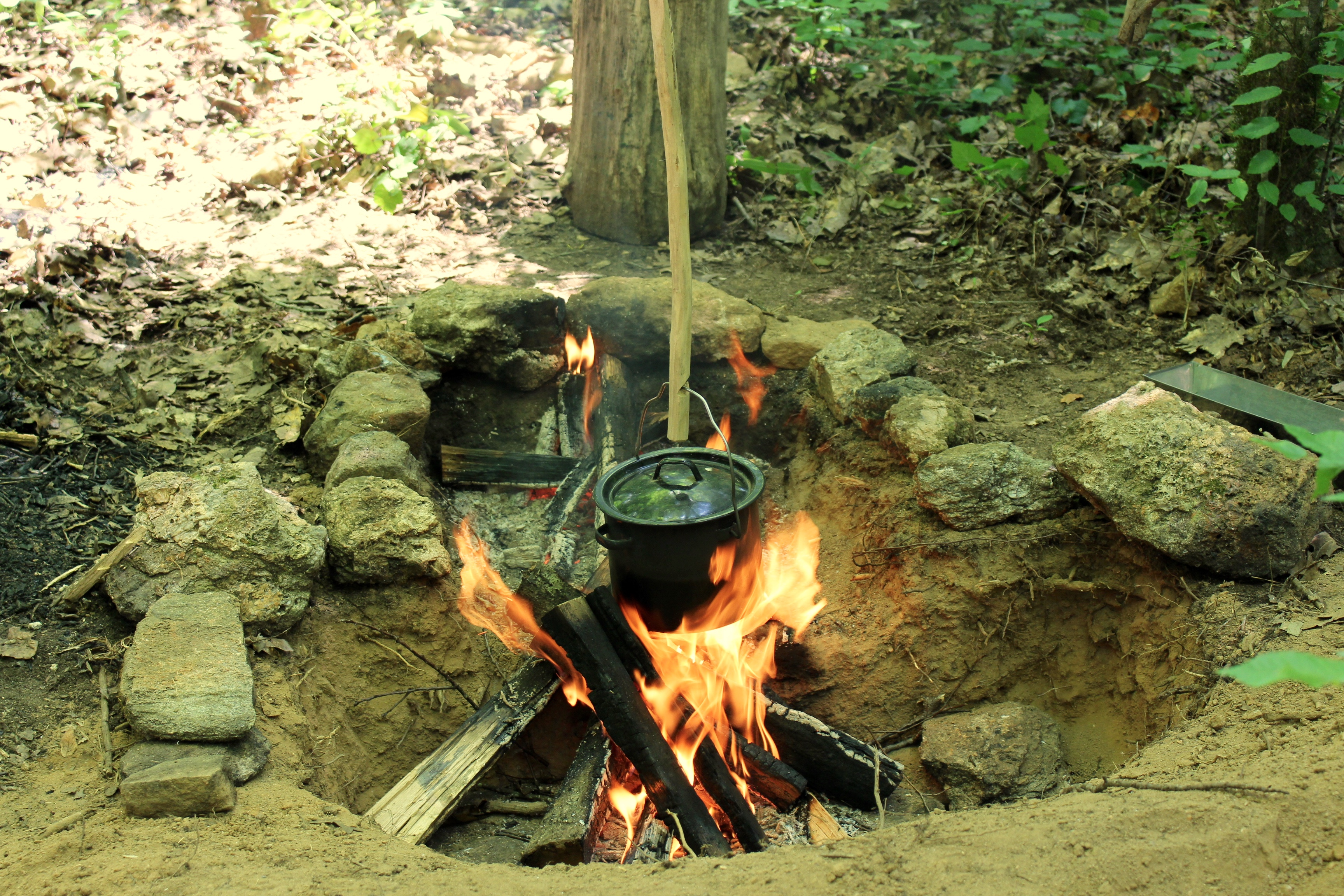 how to cook on a fire