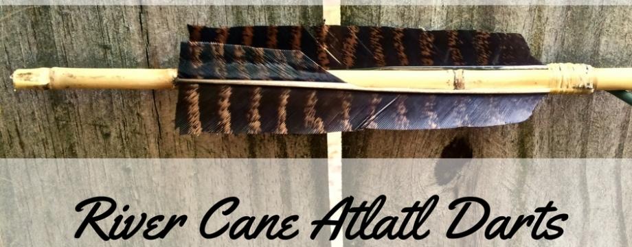 How to Straighten, Haft, and Fletch River Cane Atlatl Darts ~ TheSurvivalSherpa.com