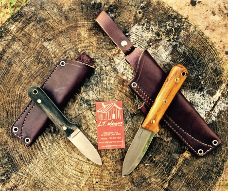 The Genesis on the left is Dirt Road Girl's knife... which I've been testing for over a year now.