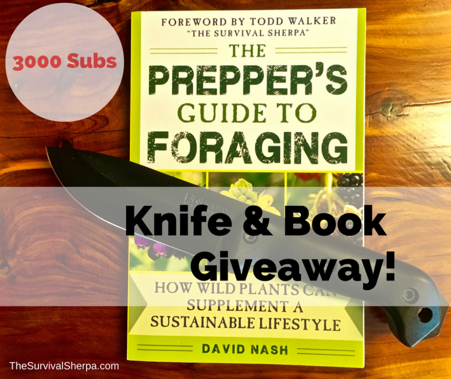 3000-youtube-subscribers-knife-and-book-giveaway-thesurvivalsherpa-com