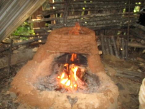 Each clay brick was formed by hand and placed one level at a time and dried by the fire.