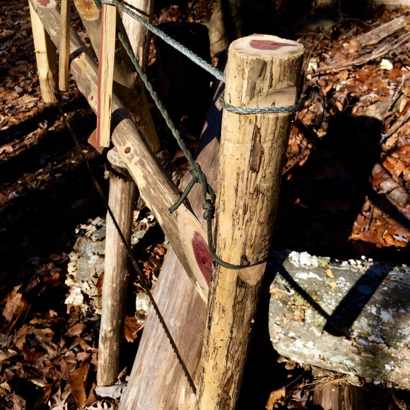 How to Craft a Base Camp Bucksaw in the Woods ~ TheSurvivalSherpa.com