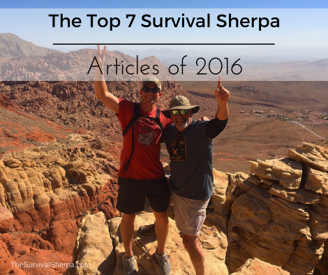 The Top 7 Survival Sherpa Articles of 2016 ~ TheSurvivalSherpa.com