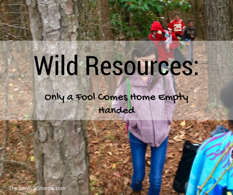 Wild Resources: Only a Fool Comes Home Empty Handed ~ TheSurvivalSherpa.com