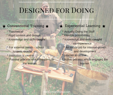 Designed for Doing- Conventional vs Experiential - TheSurvivalSherpa.com