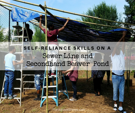 Self-Reliance Skills on a Sewer Line and Secondhand Beaver Pond - TheSurvivalSherpa.com