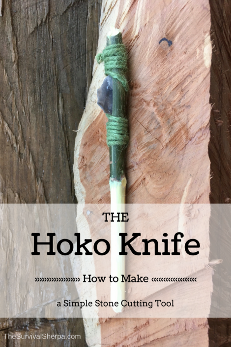 Hoko Knife: How to Make a Simple Stone Cutting Tool ~ TheSurvivalSherpa.com