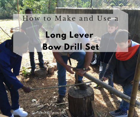 How to Make and Use a Long Lever Bow Drill Set - TheSurvivalSherpa.com