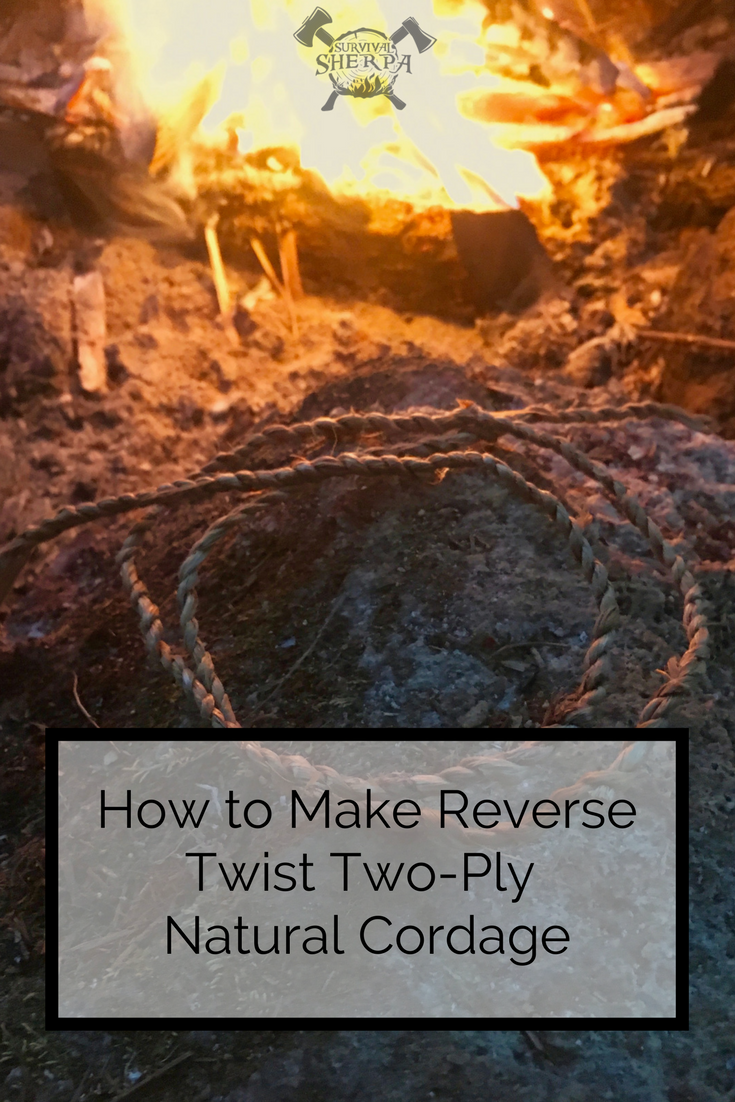 How To Make Reverse Twist Two Ply Natural Cordage