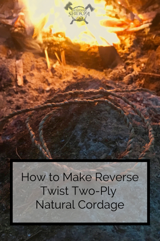 How to Make Reverse Twist Two-Ply Natural Cordage ~ TheSurvivalSherpa.com