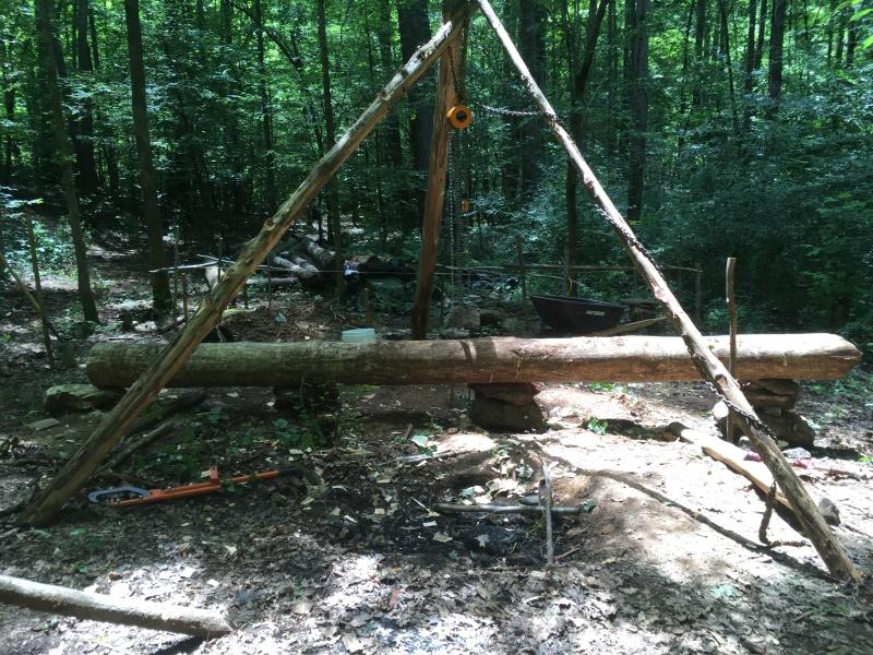 Log Cabin Update: Sill Logs and Hand-Hewn Floor Joists ~ TheSurvivalSherpa.com