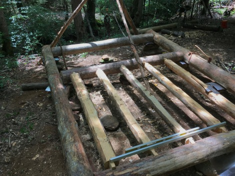 Dirt Poor Floor Joists for an Off Grid Log Cabin - TheSurvivalSherpa.com